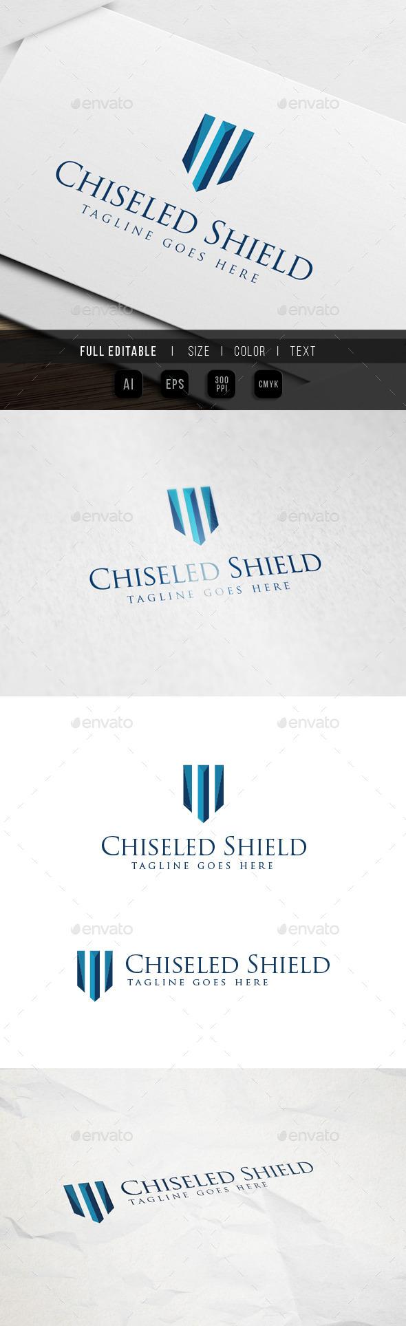 GraphicRiver Gem Chiseled Shield Logo 10002082