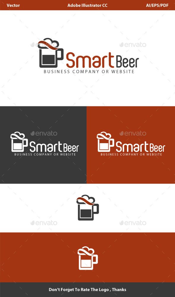 GraphicRiver Smart Beer Cloud Logo 10002100
