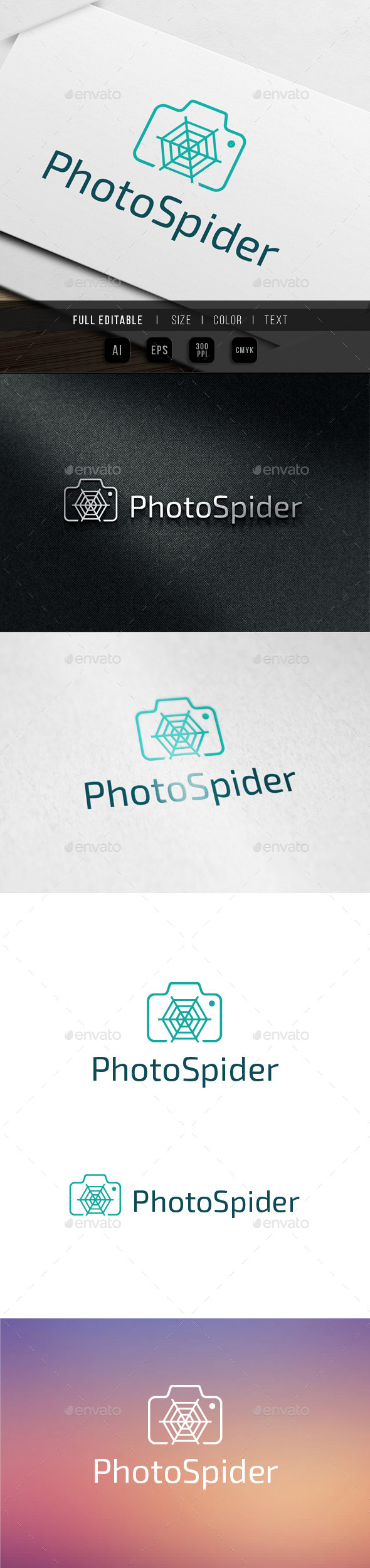 GraphicRiver Photo Spider Micro Shot Logo Template 10002204