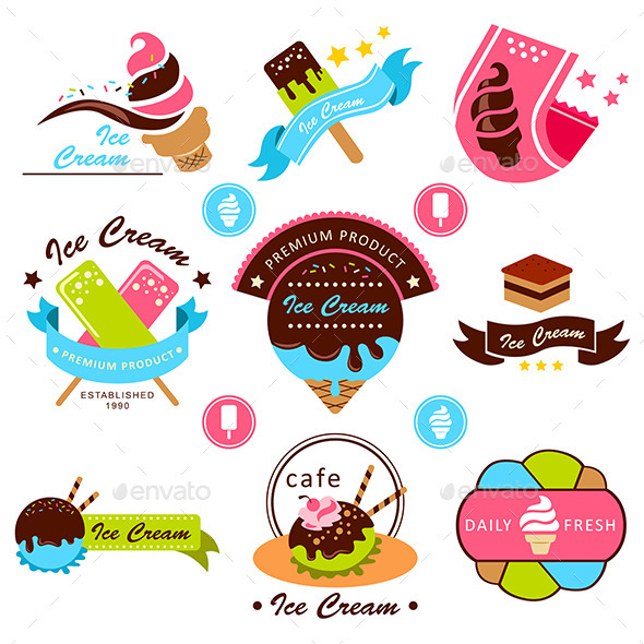 GraphicRiver Ice Cream Label 10002347