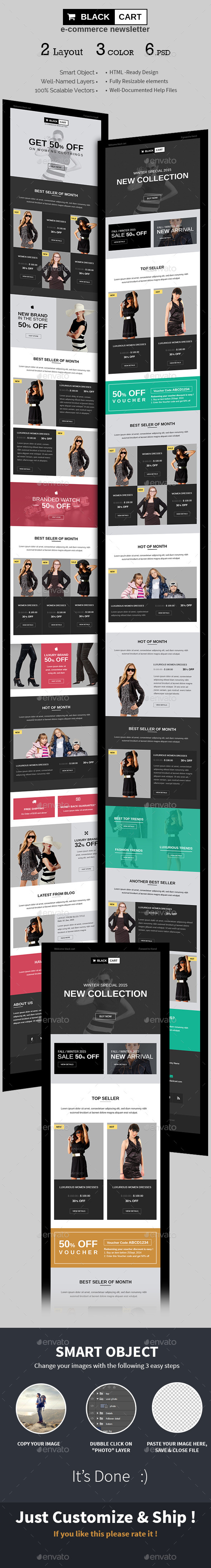 E-commerce Special Offers Newsletter PSD Template