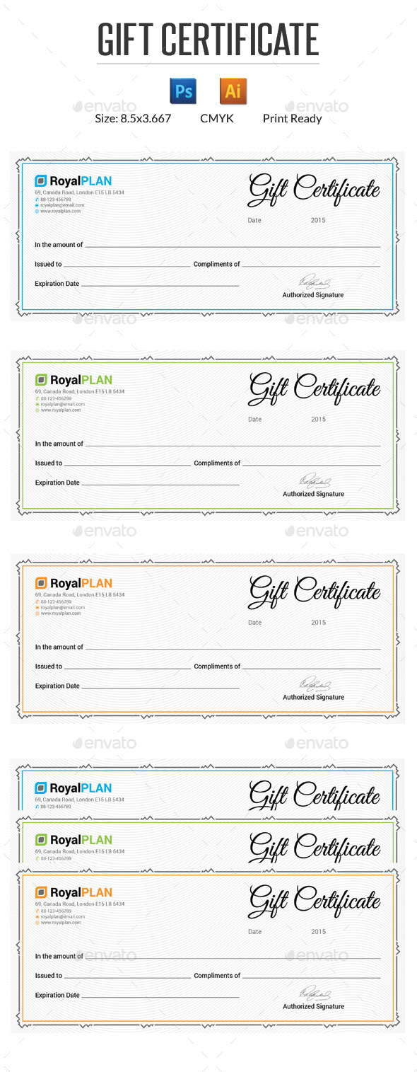 GraphicRiver Gift Certificate 10002430