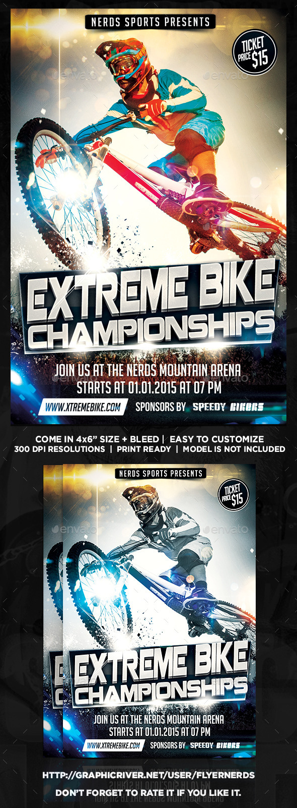 GraphicRiver Extreme Bike Sports Flyer 10002442