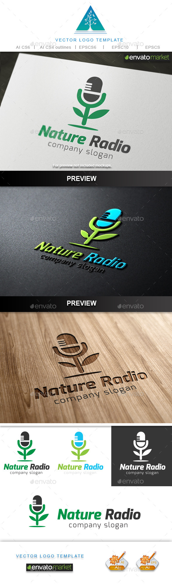 GraphicRiver Nature Radio Logo 10002527