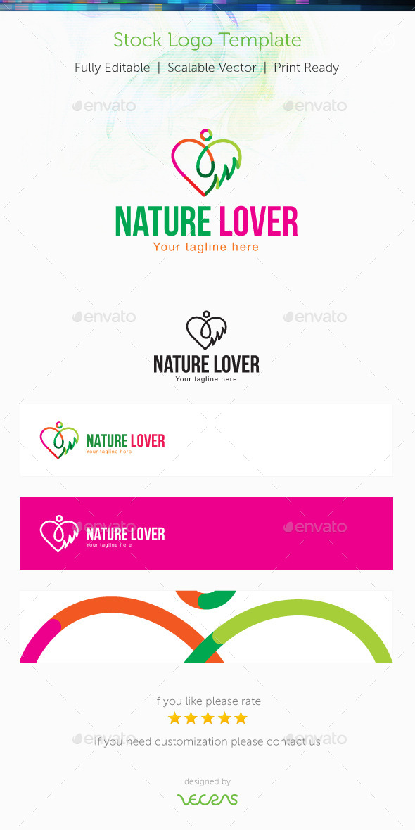 GraphicRiver Nature Lover Stock Logo Template 10002542