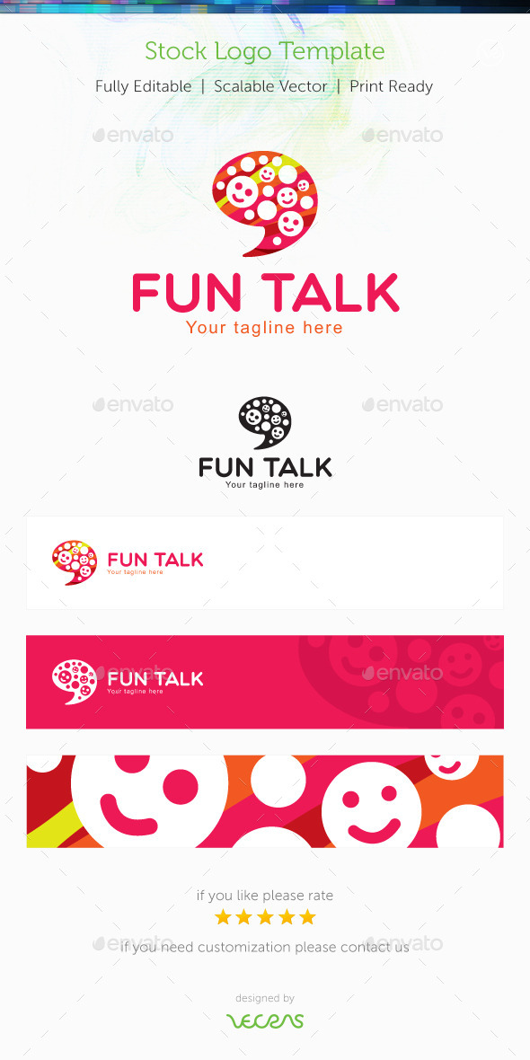 GraphicRiver Fun Talk Stock Logo Template 10002546