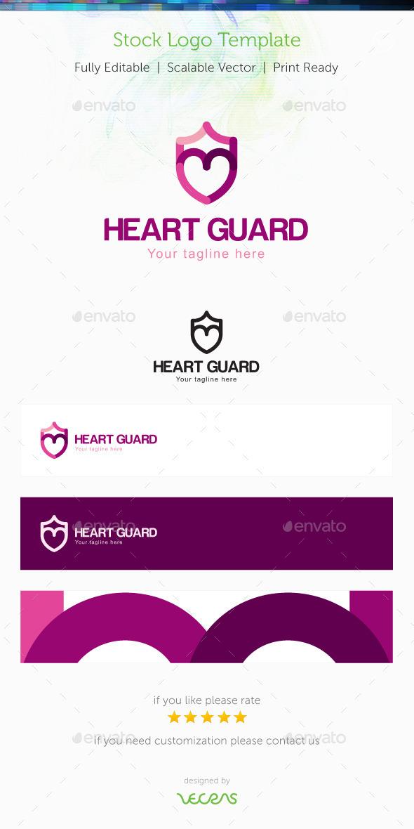 GraphicRiver Heart Guard Stock Logo Template 10002547