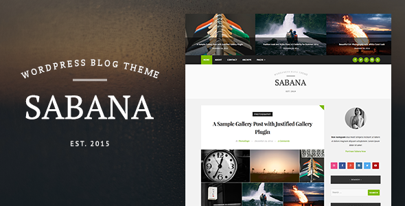 ThemeForest Sabana Clean & Elegant WordPress Blog Theme 10002573