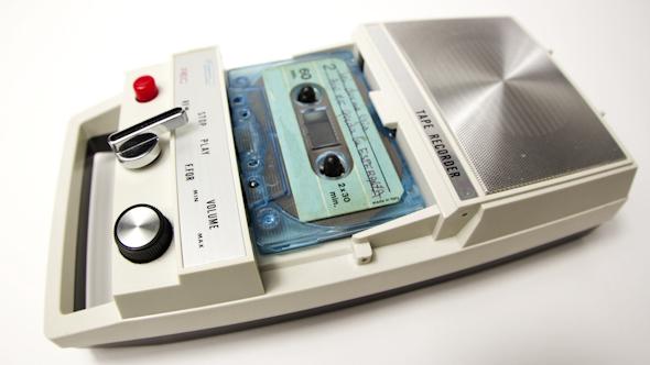 Vintage Cassette Tape Recorder 1