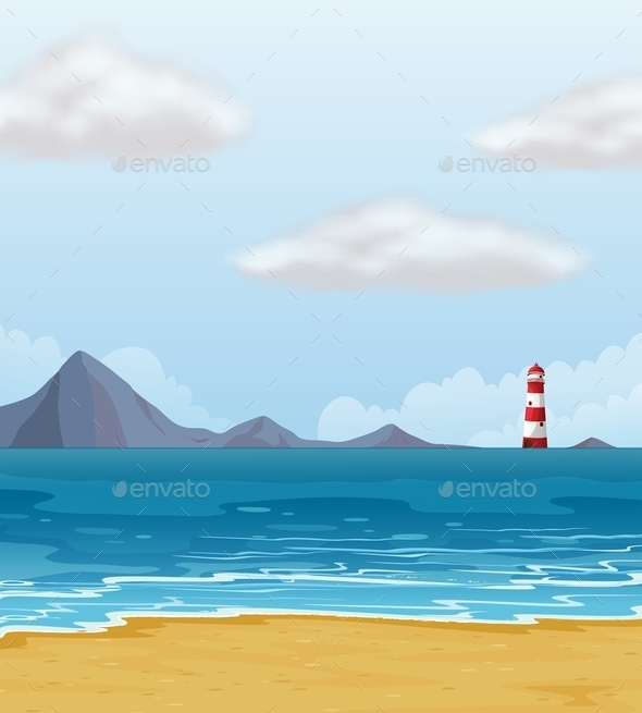 GraphicRiver Light House and a Beach 10002699