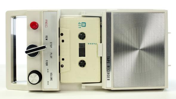 Vintage Tape Recorder Cassette 1