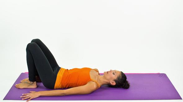 Yoga Teacher Poses On A White Background 31