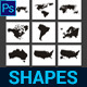 World Map Custom Shapes - GraphicRiver Item for Sale