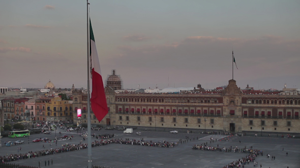 Zocalo Flag Mexico City Flag Change 1