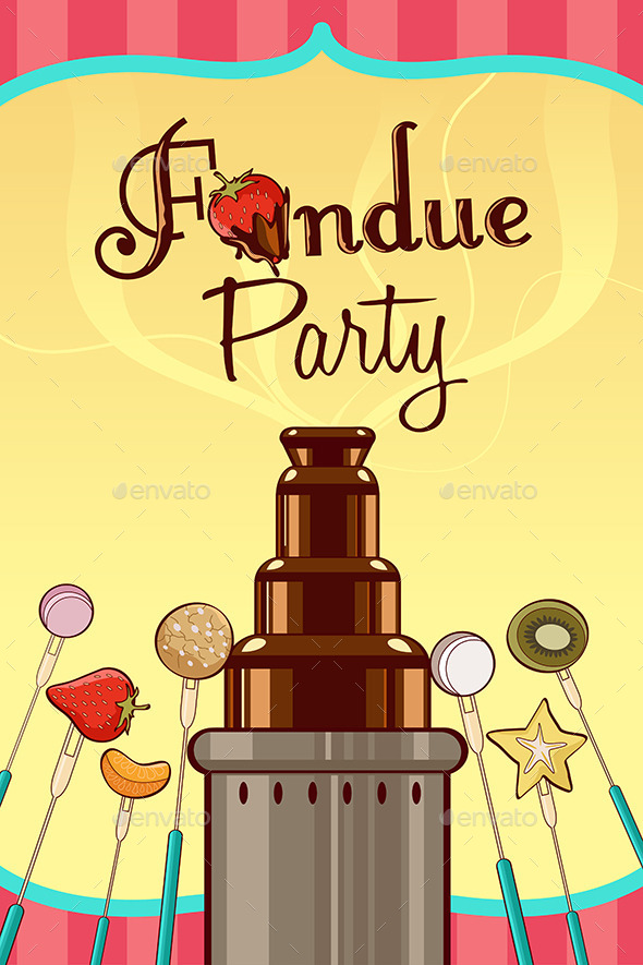 GraphicRiver Fondue Party Invitation 10003011