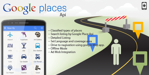 CodeCanyon Google Api Place Finder NearBy 10003228