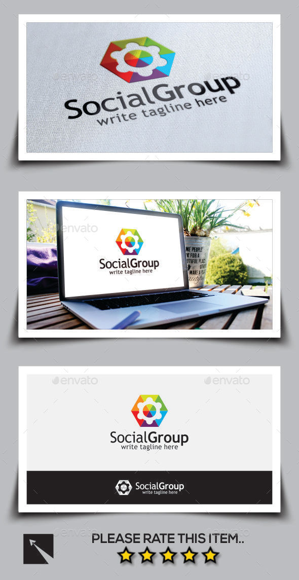 GraphicRiver Social Group Logo Template 10003236