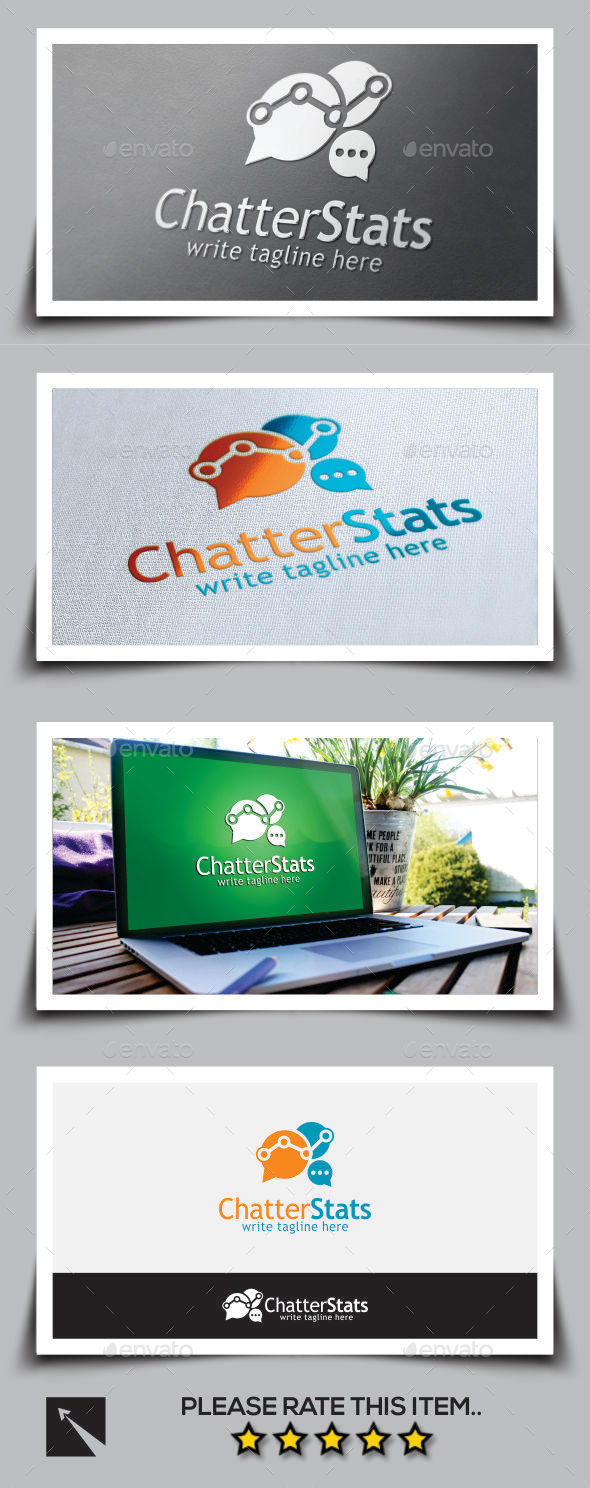 GraphicRiver Social Chatter Stats Logo Template 10003255