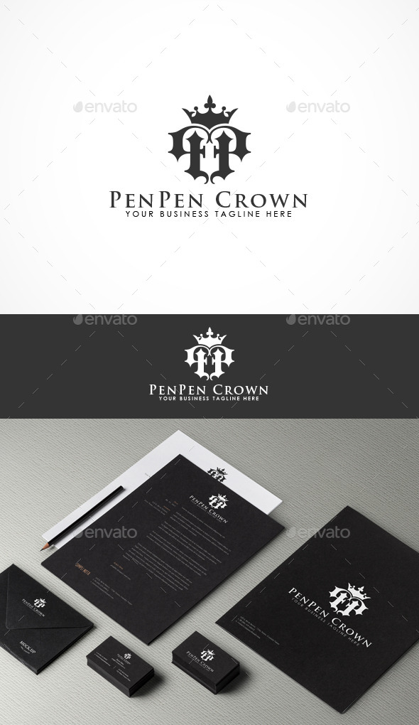 GraphicRiver PenPen Crown Logo 10003361