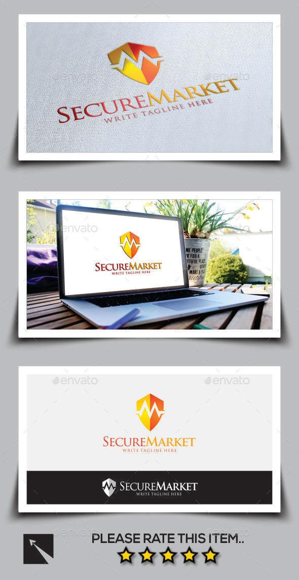 GraphicRiver Secure Market Letter M Logo Template 10003432