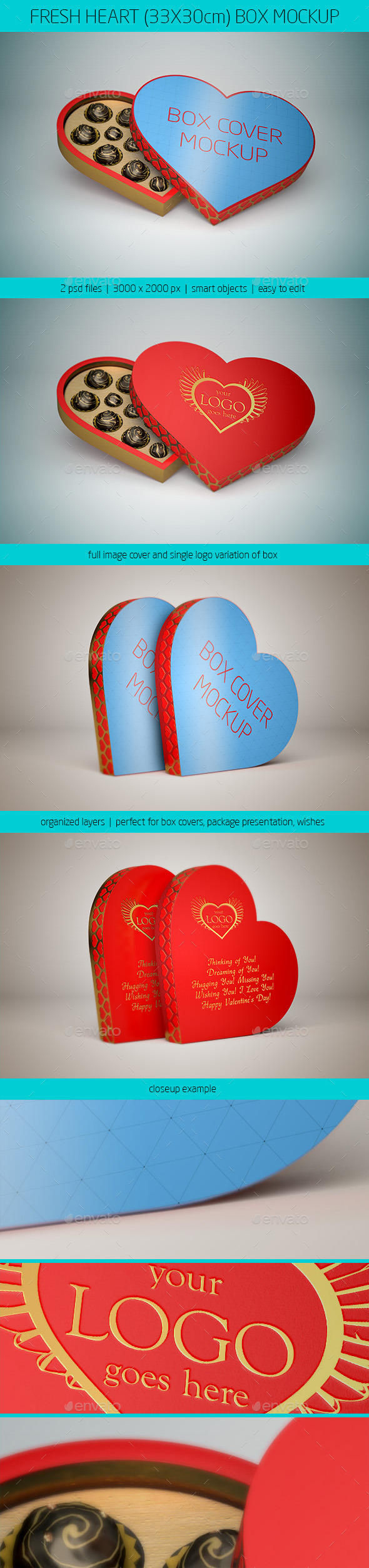 GraphicRiver Fresh Heart 33x30cm Box Mockup 9957649