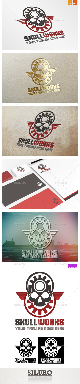 GraphicRiver Skull Works Logo 10003630