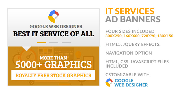 CodeCanyon IT Service Provider Navigable HTML5 GWD Ad Banner 10003931