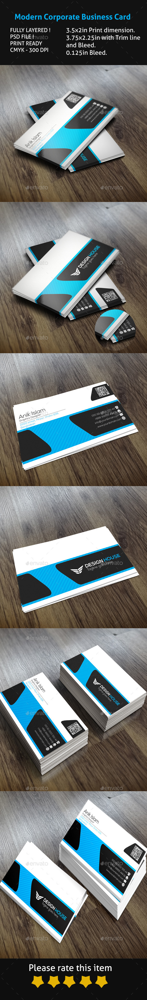 GraphicRiver Modern Corporate Business Card 10003946