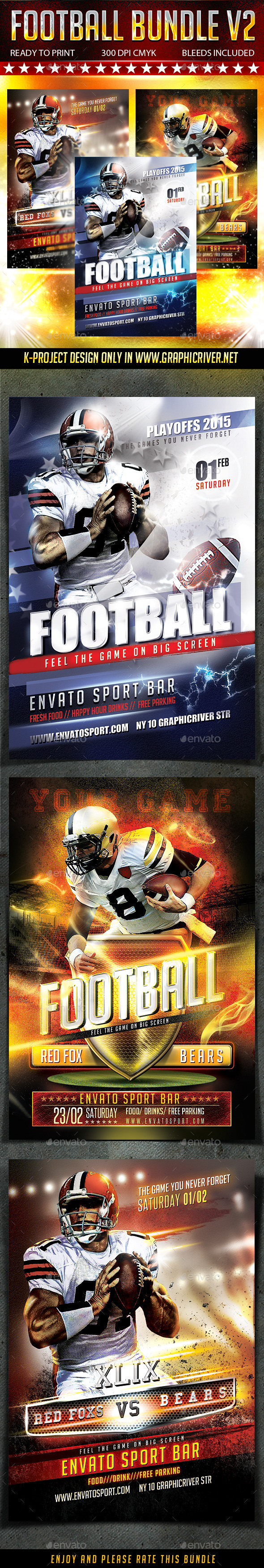 GraphicRiver Football Bundle v2 10003970