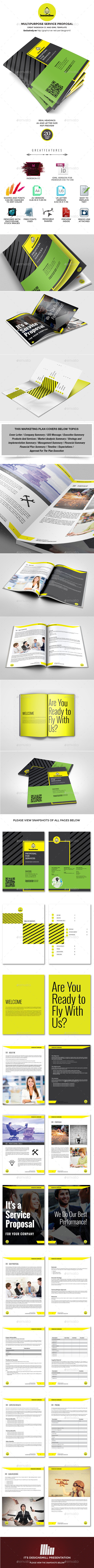 GraphicRiver Bumblebee Service Proposal Template 10003989