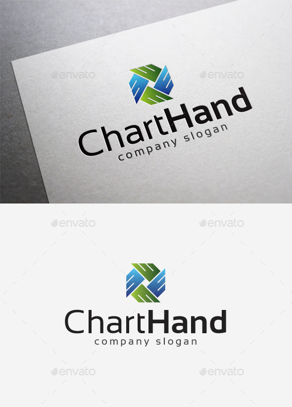 GraphicRiver Chart Hand Logo 10004182