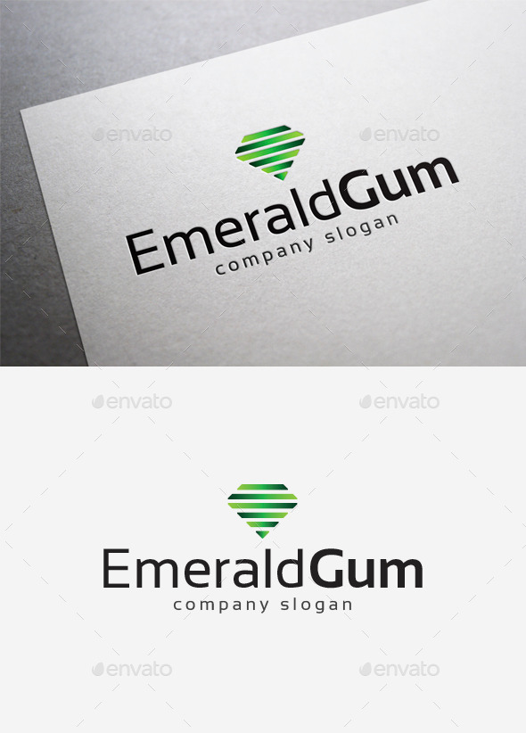 GraphicRiver Emerald Gum Logo 10004265
