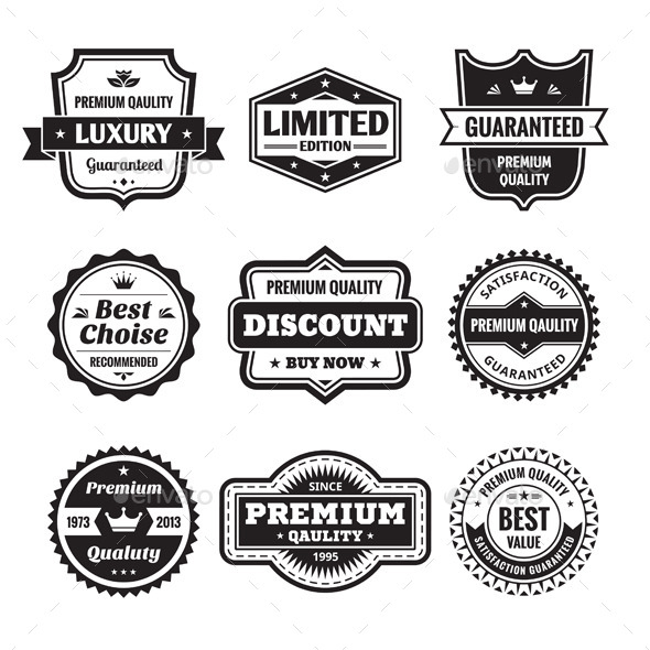 GraphicRiver 9 Labels and Badges 10004266