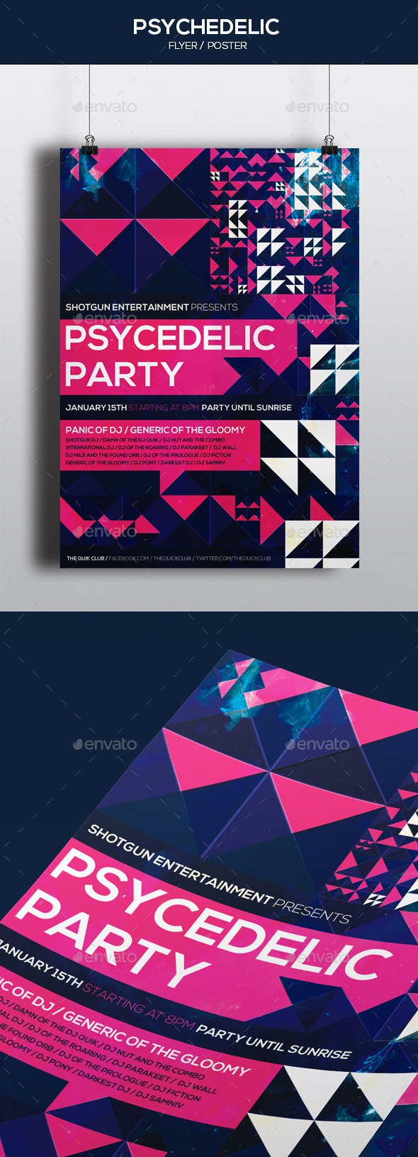 GraphicRiver Psychedelic Party Poster 9990061