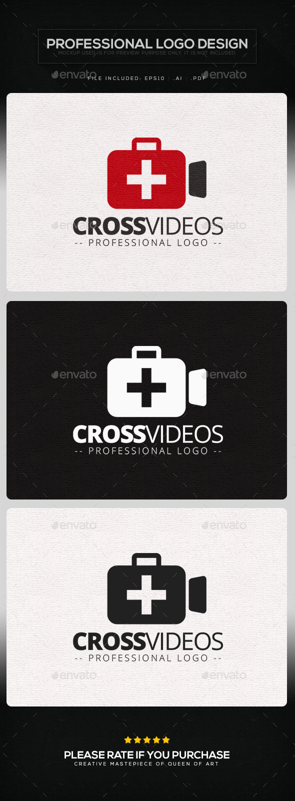GraphicRiver Cross Videos Logo Template 10004457
