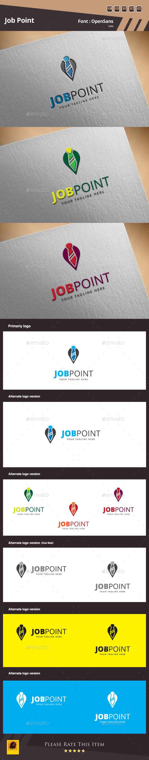 GraphicRiver Job Point Logo Template 10004489