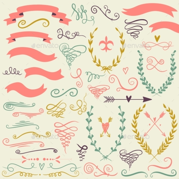 GraphicRiver Set of Graphic Design Elements 10004625