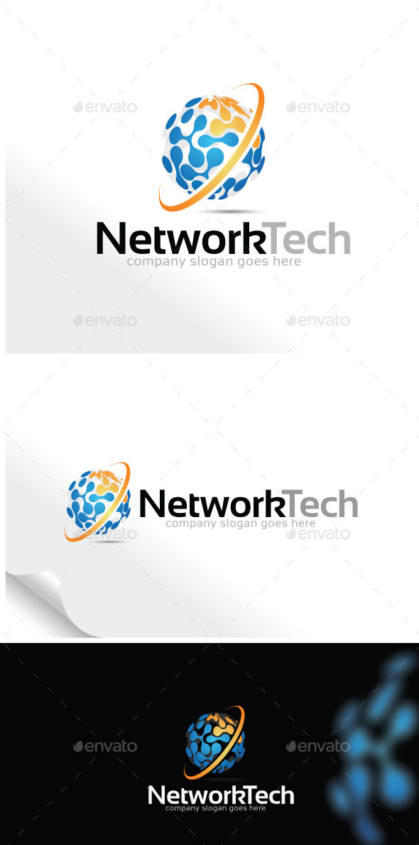 GraphicRiver Network Technology Logo Template 9894740