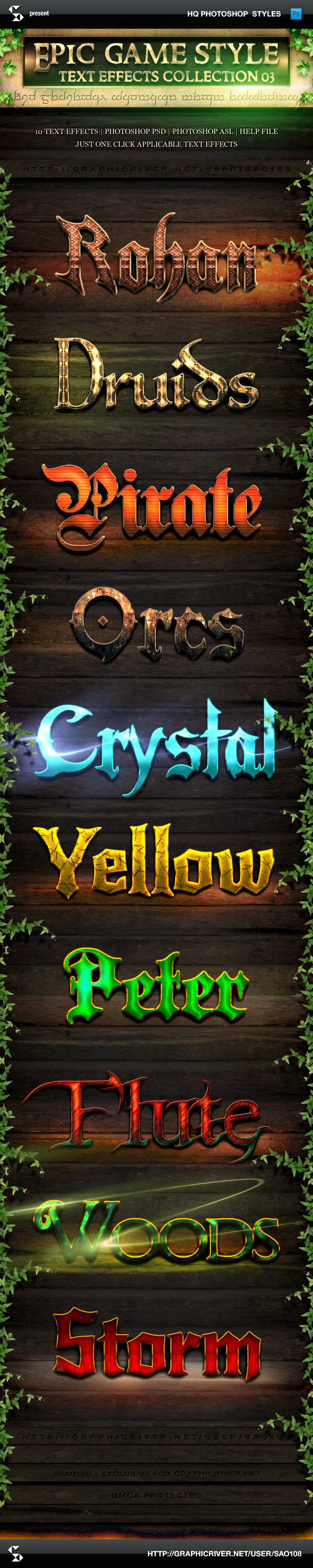 GraphicRiver Epic Game Style Text Effects Collection 3 10005016