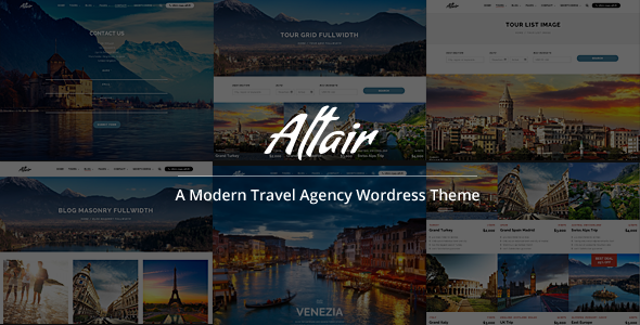 Altair Responsive Travel Tour Agency Theme