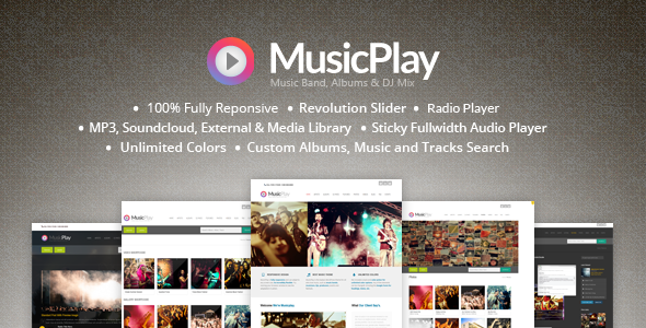 MusicPlay - Music & DJ Responsive WordPress Theme - Music and Bands Entertainment