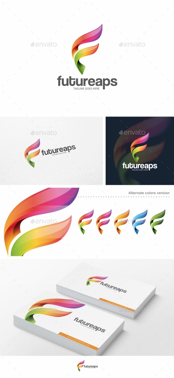 GraphicRiver Abstract F Letter Logo Template 10005828