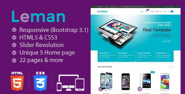 ThemeForest Leman Responsive E-Commerce Template 10005835