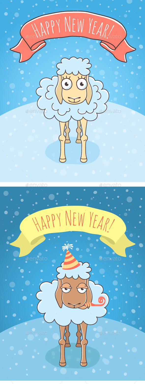 GraphicRiver New Year Sheep and Lamb 10005887