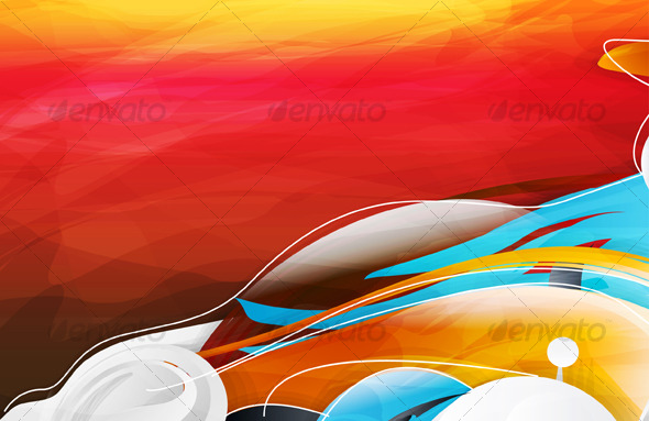 Abstract vector graphic bright background