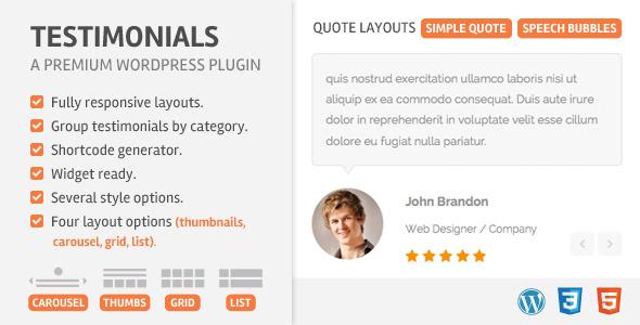 Testimonials Wordpress Plugin - CodeCanyon Item for Sale
