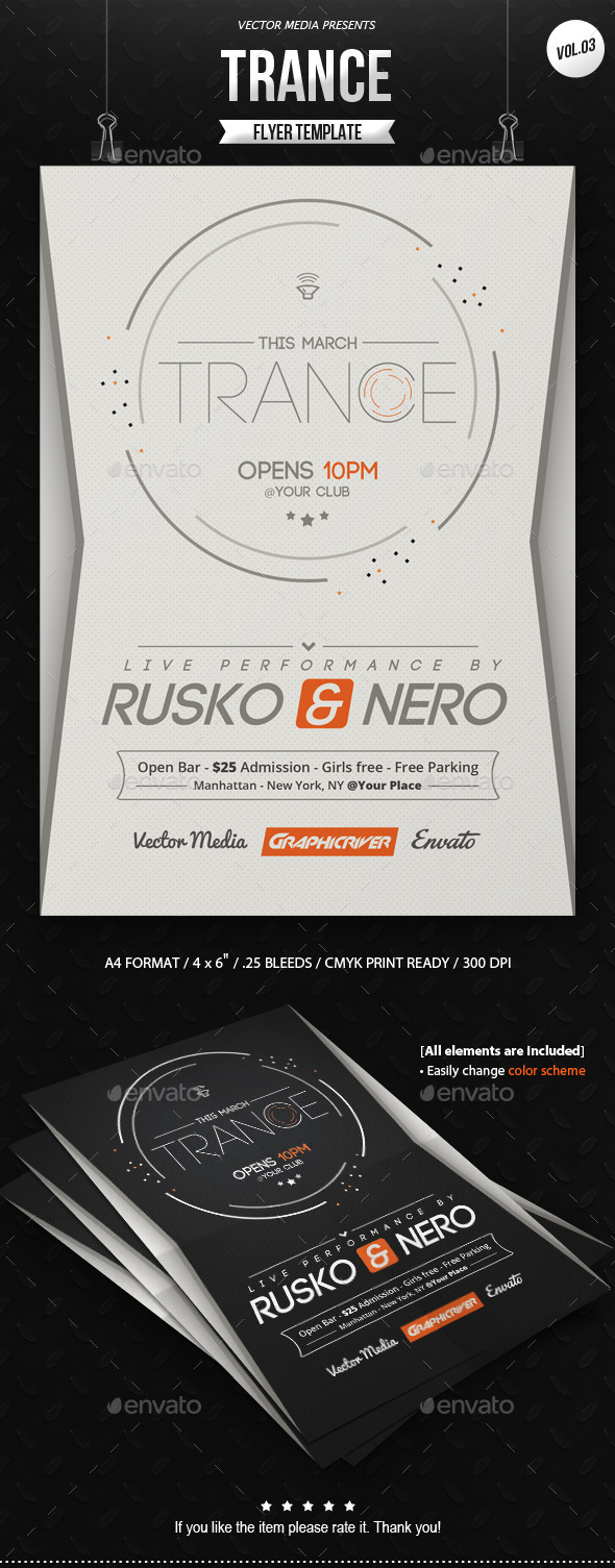 GraphicRiver Trance Flyer [Vol.03] 10006451