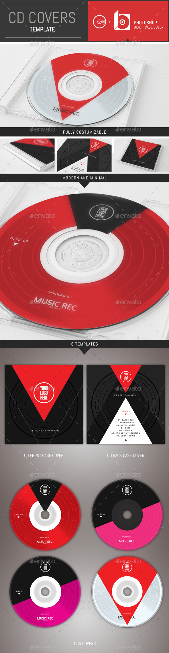 GraphicRiver Minimal Music CD Cover Template 10006670