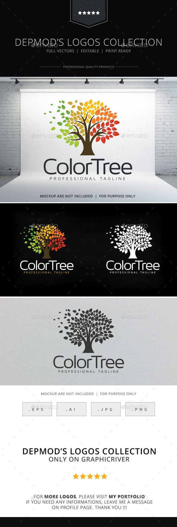 GraphicRiver Color Tree Logo 10006715