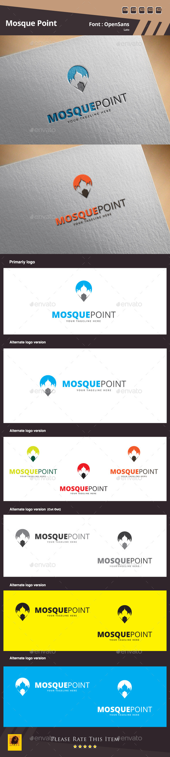 GraphicRiver Mosque Point Logo Template 10007377